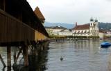 crossing the Reuss river, Luzern