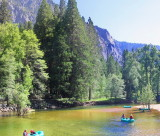 Floating on the Merced River by the Jumping Bridge