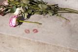 Kiss Prints on the Oscar Wilde Monument