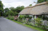 Thatched roof cottage in the village of Kells, County Kilkenny  (3208)