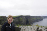 Jill in front of the Cliffs of Moher (3339)