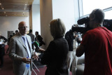 Bill Yosses being interviewed by Irish TV after the symposium (3518)G