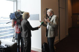 Hervé This being interviewed by Irish TV after the symposium (3524)