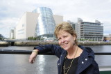 Jill, across the River Liffey across from the Dublin Convention Center (3593)