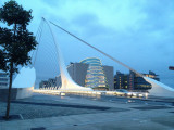 Samuel Beckett Bridge at dusk (iPhone photo by Jill)