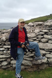 Me at Dunbeg Fort (iPhone photo by Jill)