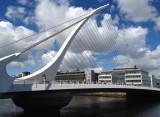 Samuel Beckett Bridge on a sunny day (iPhone photo by Jill)