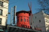 The Moulin Rouge (Montmartre) - one of the best known landmarks in Paris