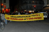 Demonstrating on behalf undocumented immigrants on Rue du Bac