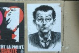 Sarkozy on a wall, artist unknown