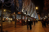 The Champs Elysees on Christmas Eve