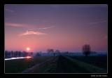 7751 sunrise in Dutch landscape in winter