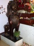 Janmastami 2011 Temple Lion With Tulsi