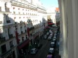 outside the hotel room window