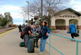 THE PARTY'S OVER, a friend said.  Sad and waiting for Amtrak. #1370