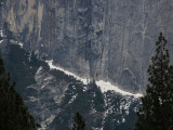 Half Dome ledge. Start of  straight-up section Honnold climbed freestyle, Winter 2012. #2345