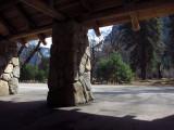 Inside a Yosemite Free-Shuttle stop. #3808