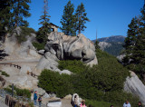 Roofed viewing area at top of Glacier Point  #2815