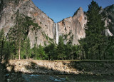 Hanging View of BridalVeil Fall and Merced River bank in front. 5:45 PM  May 24. #2552