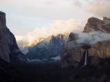 At 7:36 pm. FINAL clearing storm sunset photo, Yosemite's Tunnel View. S95.  #4590