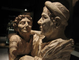 'The Spouses' - from a cremation urn, 2nd Cent.  B.C.
