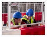 Workmen Behind Bars