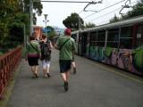 Arriving off the Ferrovia Circumvesuviana