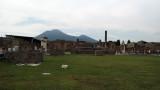Forum with Vesuvius looming beyond