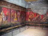 Vibrant fresco in the Villa dei Misteri