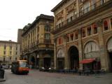 Via di Archiginnasio along Piazza Maggiore