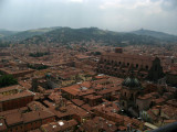 Basilica and southern hills of Bologna from above