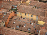 Red rooftops of central Bologna
