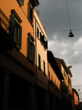 Sunlit facades on Via Massimo d'Azeglio