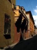 Unique balcony along the street