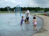 Beth and Tawney at the splashpark