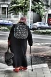 Lady walking in Wellington