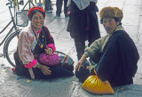 Lhasa, Farmers after shopping in the city.