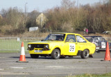 Mk2 Yellow Ford escort in cones rally sprint.jpg