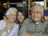 Grandma Lola, Danaka and Grandpa John