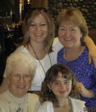 Great Grandma Lola, Momma Amanda, Danaka and Grandma Cheryl