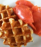 iPhone picture: Breakfast from Costco Pocatello - Waffles from Belgium and Smoked Salmon from Alaska IMG_0046.jpg