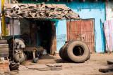 Tyre repair shop