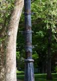 Wooden lamp-post