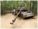 A broken down American tank