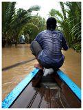 Boatman in the rain