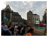 Guess what is going on at Dam Square on a Summer night