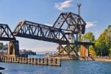 Train bridge at the locks