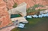 Just below the dam