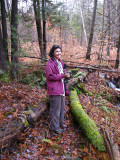 Donna at the beaver pond