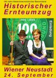 Historischer Ernteumzug, Wiener Neustadt am 24. Sept. 2006, Einladung